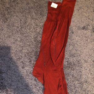 Men's red dress socks silk blend L/XL Barneys NY